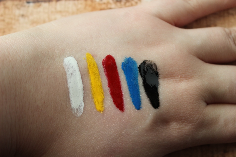 OCC Lip Tar Primary Pack Minis Swatches