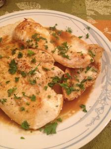 Sauteed Fillets of Chicken with Lemon and Parsley, Siena Style